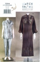 Vogue 7204 Dress Tunic Pants Size 6 - 10 - Bust