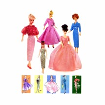 Fashion Doll Clothes Vintage Vogue 7241 Sewing Pattern Fits 11 1/2 inch Dolls