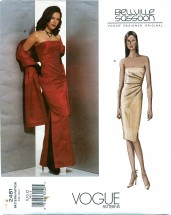 Vogue 2481 Designer Original BELLVILLE SASSOON Dress Stole Size 8 - 12