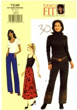 Vogue 7538 Sewing Pattern Sandra Betzina Skirt Pants Waist 26 1/2 - 30 1/2