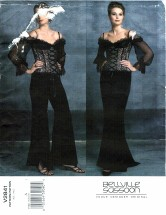 Vogue 2841 Bellville Sassoon Top Skirt Pants Size 6 - 10 - Bust 30 1/2 - 32 1/2