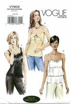 Vogue 7902 Camisole Size 6 - 10 - Bust 30 1/2 - 32 1/2