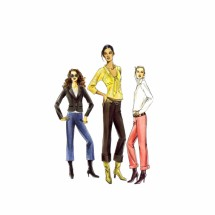 Misses Below Waist Pants Vogue 8130 Sewing Pattern Size 6 - 8 - 10 - 12