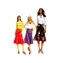Misses Draped Skirt Vogue 8200 Sewing Pattern Size 6 - 8 - 10