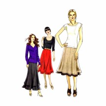 Misses Pull-On Paneled Skirts Vogue 8583 Sewing Pattern Full Figure Size 18 - 20 - 22 - 24