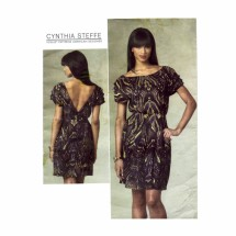 Cynthia Steffe V-Back Dress Vogue 1207 Sewing Pattern Size 14 - 16 - 18 - 20