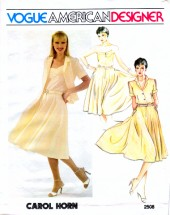 Vogue 2508 Sewing Pattern Designer Carol Horn Womens Camisole Top Skirt Size 10