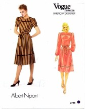 Vogue 2796 Albert Nipon Blouson Dress Size 10 - Bust 32 1/2
