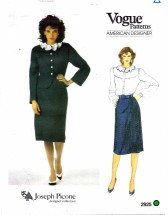 Vogue 2925 Joseph Picone Jacket Skirt Blouse Suit Size 10 - Bust 32 1/2