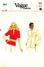 Vogue 8237 Sewing Pattern Misses Jacket Size 14 - Bust 36
