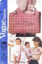 Vogue 8289 Vintage Crafts Sewing Pattern Diaper Bag Changing Pad Accessories