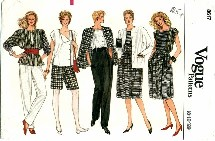 Vogue 8617 Jacket Skirt Pants Shorts Top Size 8 - 12