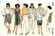Vogue 8922 Jacket Dress Top Pants Shorts Size 8
