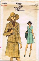 Vogue 8985 Sewing Pattern Misses Half Size Dress & Jacket Size 22 1/2