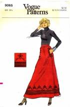Vogue 9065 Braid Trim Evening Skirt Waist 26 1/2