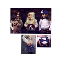 Change Purse Muff Shoulder Bag Animal Accessories Vogue 2609 Vintage Sewing Pattern