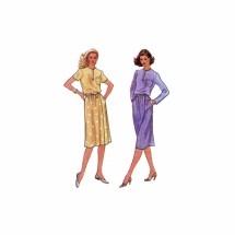 1980s Misses Top and Wrap Skirt Vogue 7929 Vintage Sewing Pattern Size 10 Bust 32 1/2
