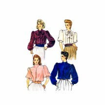 Misses Loose Fitting Blouse Vogue 8464 Vintage Sewing Pattern Size 10