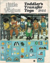Toddlers Jumper Jumpsuit Bloomers Blouse Shirt Little Vogue 1844 Vintage Sewing Pattern Size 3