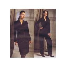 Bill Blass Jacket Skirt Pants Vogue 2602 Sewing Pattern Size 12 - 14 - 16