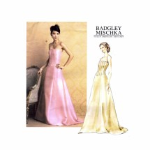 Badgley Mischka Princess Seam Boned Evening Length Dress Vogue 2732 Sewing Pattern Size 12 - 14 - 16