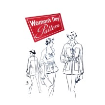 1940s Bathing Suit Matching Beach Coat Womans Day 3170 Vintage Sewing Pattern Size 16 Bust 34