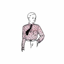 1930s Boys Sport Shirt Womans World 5809 Vintage Sewing Pattern Neck 11